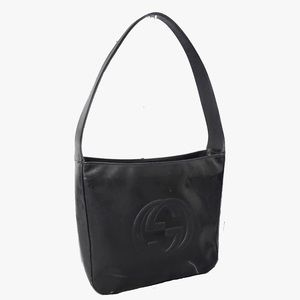 Authentic Gucci GG Embossed patent leather bag